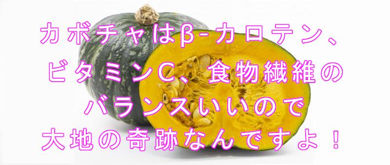かぼちゃのβ-カロテン3.5倍にする方法 日持ちと保存法のご紹介