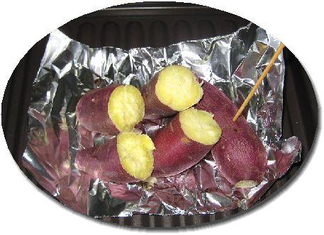 Bistro内蔵レシピで作ったふかし芋画像