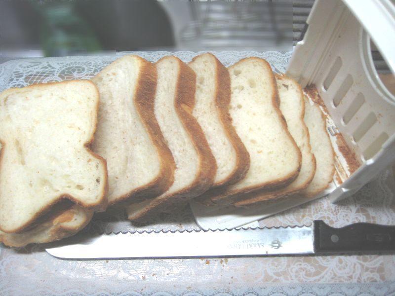 食パン6枚カットに合わせてカットした画像
