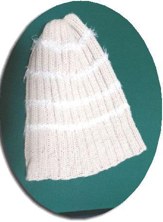ニット帽のゴム編み部分が伸びた図