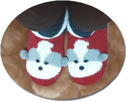 靴下重ね履きしている人の足の画像 でも足が冷たい!