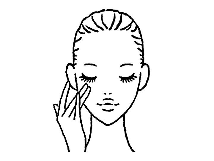 女性顔のイラスト画像
