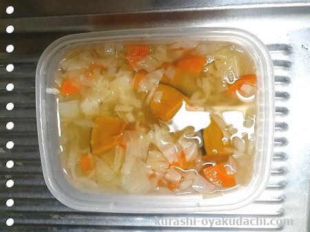 ファイトケミカルスープはスープと野菜は一緒に保存するの画像