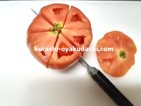 損しないトマトの切り方!トマト画像