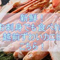 新鮮な生ずわい蟹カット済が3年連続楽天ランキング大賞受賞と大人気!